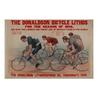 Vintage Bicycle Race Donaldson Ad Art Poster
