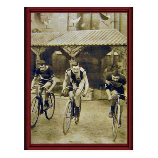 Vintage bicycle race postcard
