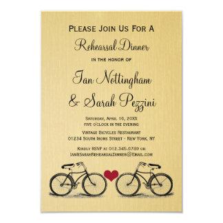 "Vintage Bicycle Rehearsal Dinner Invitations 3.5"" X 5"" Invitation Card"