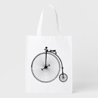 Vintage Bicycle Reusable Grocery Bags