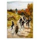 Vintage Bicycle Ride in the Country Card