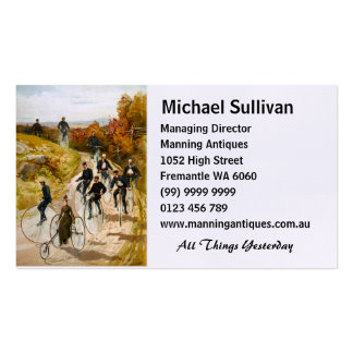 Vintage Bicycle Ride in the Country Double-Sided Standard Business Cards (Pack Of 100)