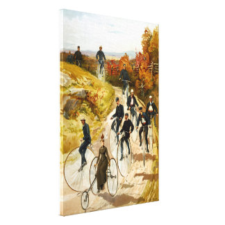 Vintage Bicycle Ride in the Country Wrapped Canvas