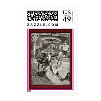 Vintage Bicycle rodeo Postage Stamps