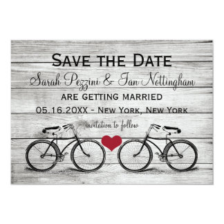 Vintage Bicycle Save the Date Wedding Cards
