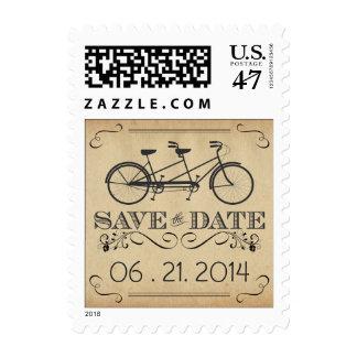 Vintage Bicycle Save the Date Wedding Postage