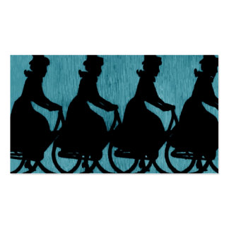 Vintage Bicycle Scarf Hat Woman Business Card Template