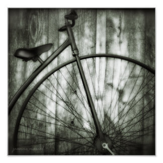 Vintage Bicycle Square Poster
