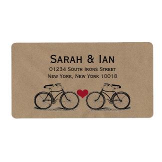 Vintage Bicycle Wedding Address Labels