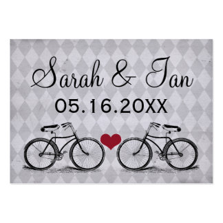 Vintage Bicycle Wedding Place Cards Large Business Cards (Pack Of 100)