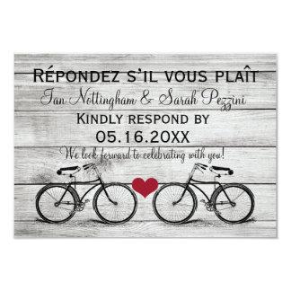 Vintage Bicycle Wedding RSVP Cards
