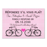 Vintage Bicycle Wedding RSVP Cards Personalized Invites