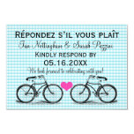 Vintage Bicycle Wedding RSVP Cards Invite