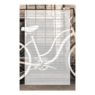 Vintage Bicycle With Basket Stationery