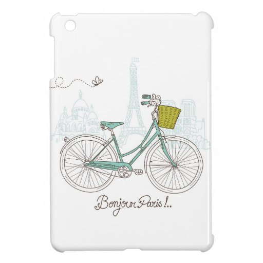 Vintage Bicycle with cute basket in Paris iPad Mini Cover