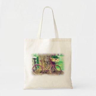 Vintage Bicycle with Flower Basket Tote Bag