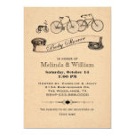 Vintage Bicycles Baby Shower Invitation