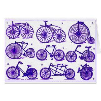 Vintage Bicycles Card