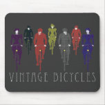 Vintage bicycles mouse pads