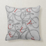 Vintage Bicycles Pillows
