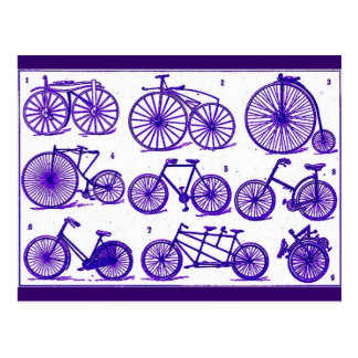 Vintage Bicycles Post Card