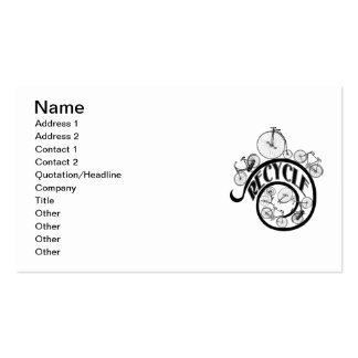 Vintage Bicycles Recycle Apparel and Gifts Double-Sided Standard Business Cards (Pack Of 100)