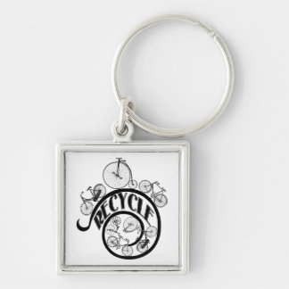 Vintage Bicycles Recycle Apparel and Gifts Key Chain