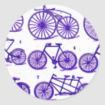 Vintage Bicycles Round Stickers