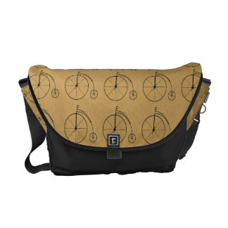 Vintage Bicycles Tiled Messenger Bags