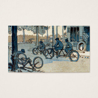 Vintage Bicycling Print Business Card