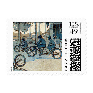Vintage Bicycling Print Postage