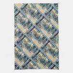 Vintage Bicycling Print Towels