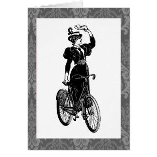 Vintage Bicyclist Card