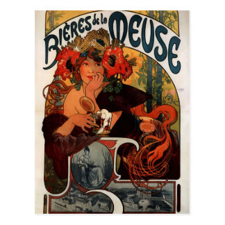 Vintage Bières de la Meuse Beer Advertisment Postcard
