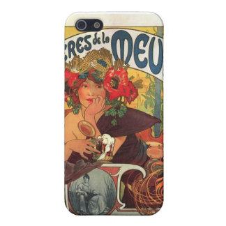 Vintage Bieres de la Meuse by Alphonse Mucha Case For iPhone SE/5/5s