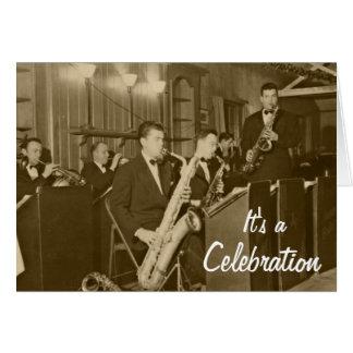 Vintage Big Band Sax Card