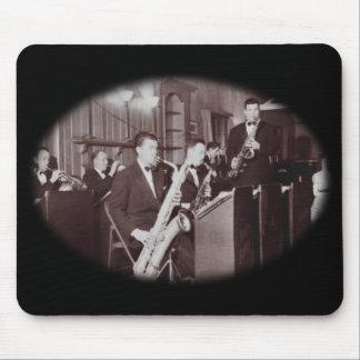 Vintage Big Band Sax Mouse Pad