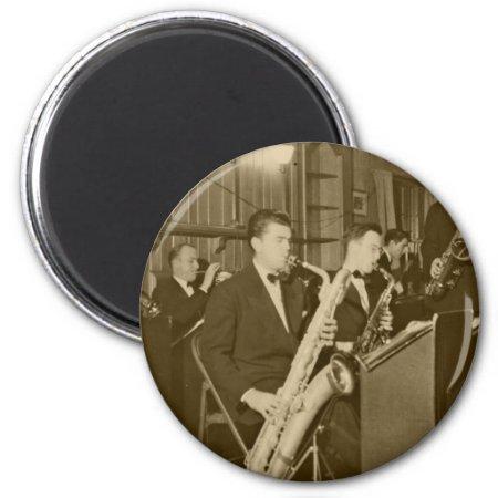 Vintage Big Band Sax Refrigerator Magnet