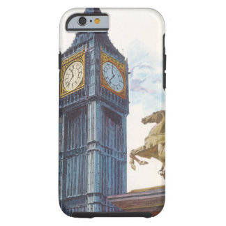 Vintage Big Ben Clock Tower Horse Statue, London Tough iPhone 6 Case