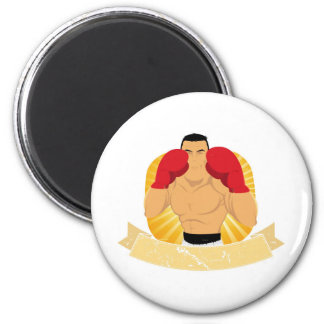 Vintage Big Boxing Man Magnet