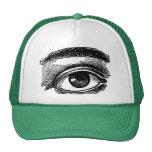 Vintage Big Eye Wood Engraving Hats
