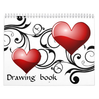 Vintage Big heart Drawing book - Customized Calendar