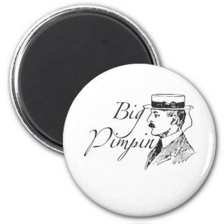Vintage Big Pimpin 2 Inch Round Magnet