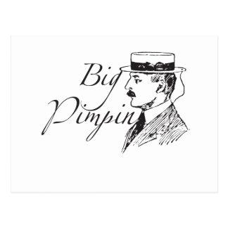 Vintage Big Pimpin Postcard