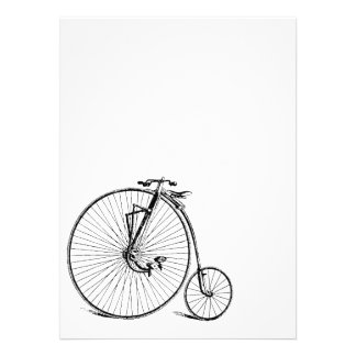 Vintage Big Wheel Antique Bicycle Personalized Invite