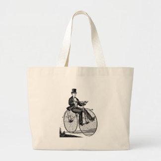 Vintage Big Wheel Bicycle Victorian Cycling Bags