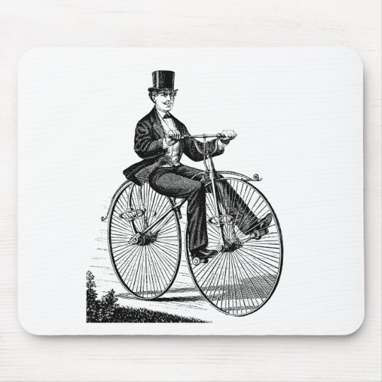 Vintage Big Wheel Bicycle Victorian Cycling Mouse Pad