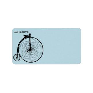Vintage Bike Address Label