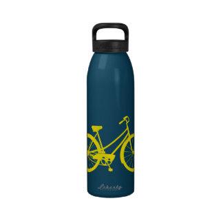 Vintage Bike - Aluminum Water Bottle (Yellow Multi