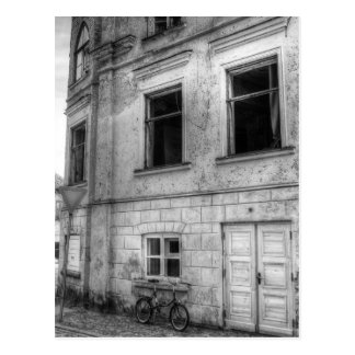 Vintage bike black/white postcard